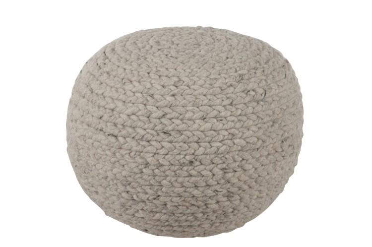 Sitzkissen / Hassock Knitted Wool Grau