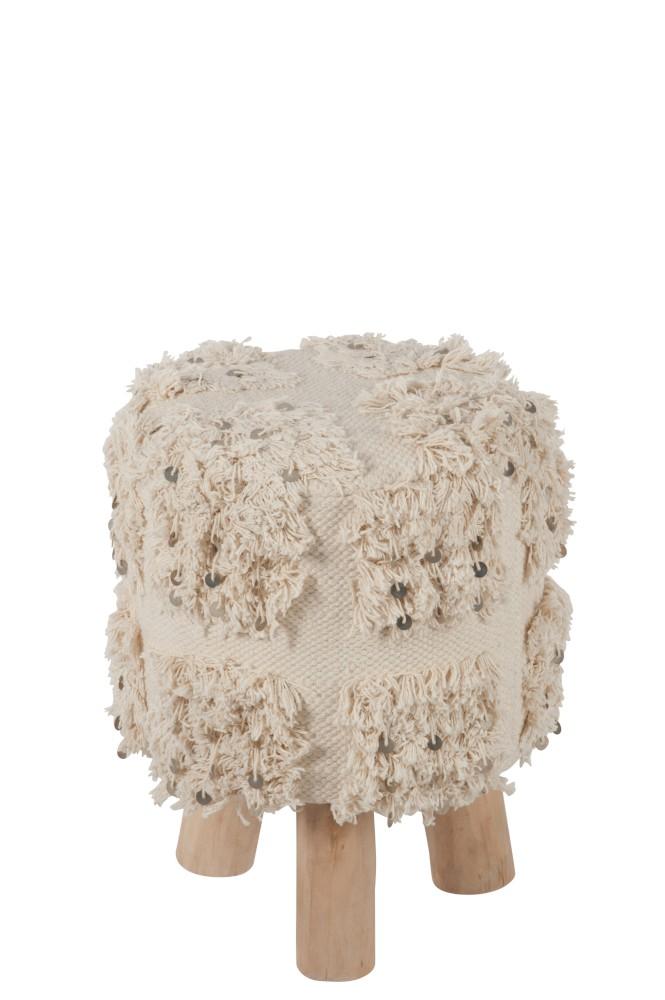 Stuhl Marokko Baumwolle Weiss