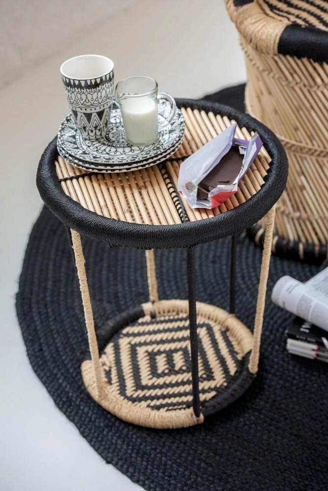 Tisch 2 Seiten Bambus Naturell/Schwarz